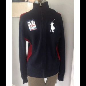 RALPH LAUREN BIG POLO OLYMPIC VANCOUVER SWEATER L